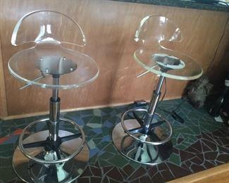 1960's lucite Bar stools