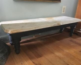 Wooden frame with marble dresser tops