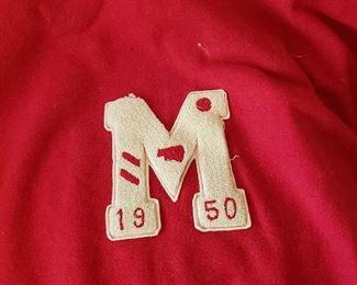 McGehee, AR 1950 school letter on red blanket