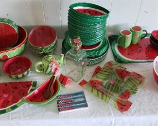 watermelon bowls, plates, trays