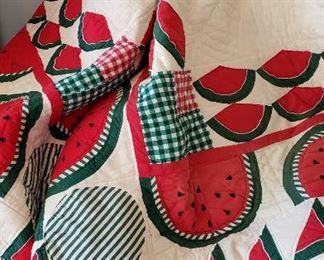 Vintage watermelon quilt