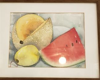 Watercolo framed print
