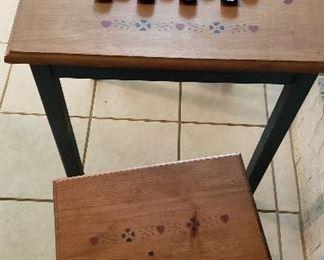 checker board table w/stools
