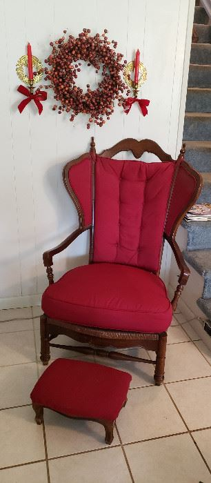 arm chair with stool