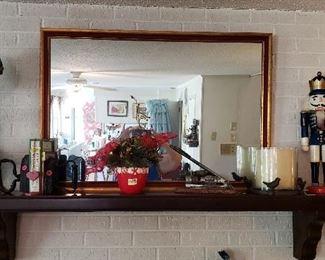 mirror, smoothing irons, Christmas