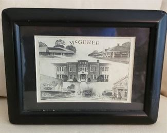 McGehee, AR framed black & white photo