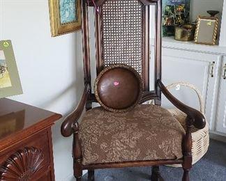 wicker back chair, American Drew foyer chest