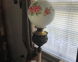 Antique Globe Lamp $ 92.00