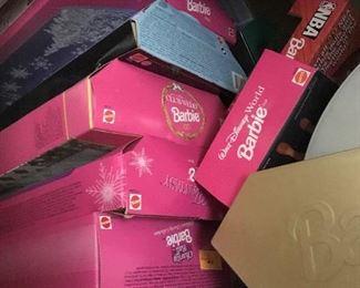 Barbie dolls in original boxes.