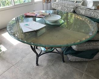 Brass / Glass Top Table $ 124.00