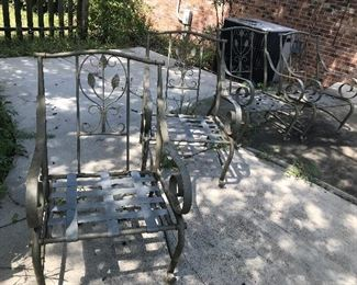 Glass Top Table / 4 Chairs with Cushions $ 146.00
