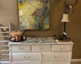 Stanley 7 Drawer dresser / Fine Art by Galina Herndon  /Vintage Samsonite in mint condition
