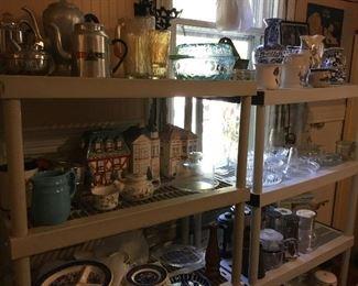 Vintage coffee pots, cookie jars, and more
