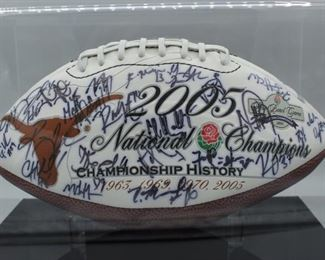 2005 University of Texas National Champions autographed football