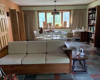 Retro pine framed sofa