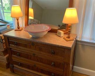 Eastlake dresser and mirror