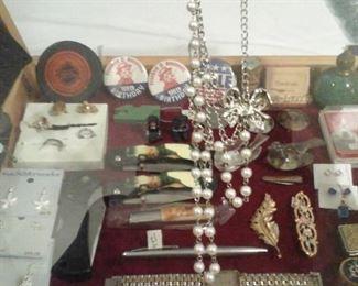 Costume jewelry, pocket knives