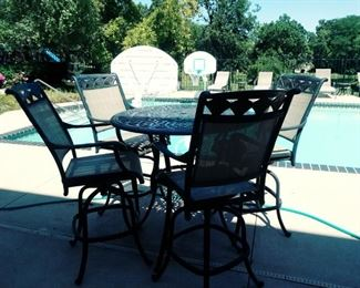 hi top patio table and 4 chairs