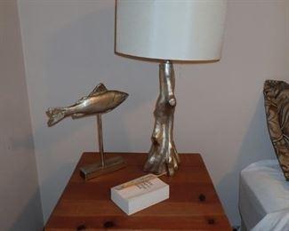 SILVER LAMPS / SILVER FISH DECOR