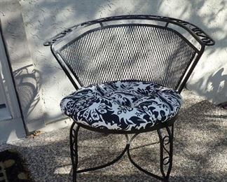 METAL MESH CHAIRS WITH MATCHING BENCH