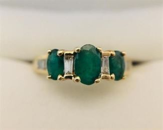 Natural Emerald and Diamond Ring                 https://ctbids.com/#!/description/share/225531