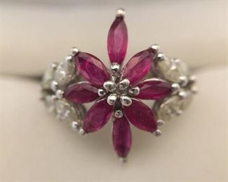 Natural Ruby and Diamond Ring https://ctbids.com/#!/description/share/225529