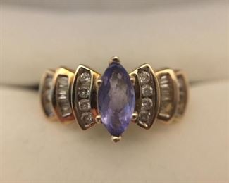 Tanzanite and Diamond Ring https://ctbids.com/#!/description/share/225534