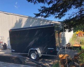 6x12 ENCLOSED TRAILER   3 DOOR SINGLE AXLE HAULMARK  CASH ONLY SALE