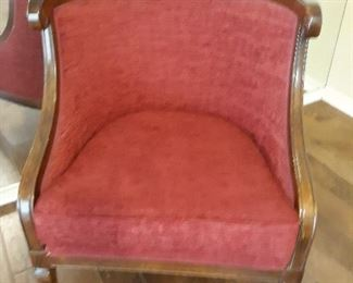 Pair of great red chairs