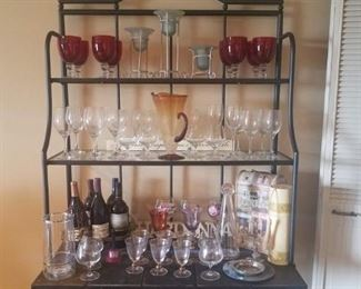 Wine Glass Sets: Ruby, Clear & Gold Rimmed. Candle Holders, Wall Plaques & More.