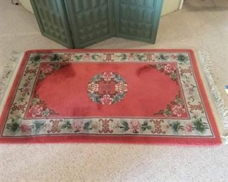 """Nice Accent Oriental Wool Rug in Great Shape 37""""x 67"""""""