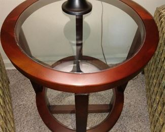 NEW STYLISH END TABLES ...WOOD/ GLASS