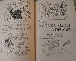 CLOSE-UP.....RISQUE ???  THE THORNE SMITH 3-DECKER  BOOK