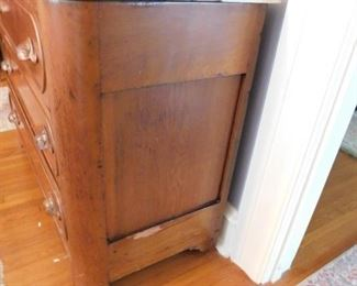 Antique Drawer Cabinet w/Marble Top