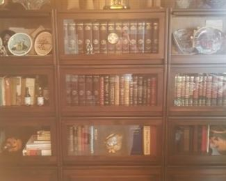 sectional wood library (to much light on photo, sorry)