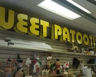 Light up Very Large SWEET PATOOTIE SIGN