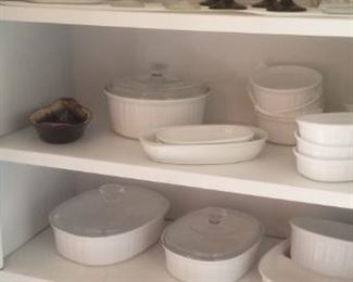 corningware and corelle and pyrex