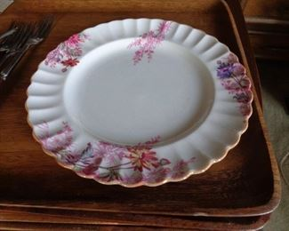 set of vintage Copelands china, pretty pattern
