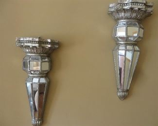 Mirrored Wall Sconces (pair)
