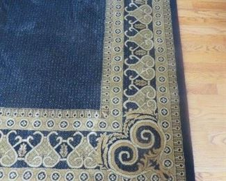 "Fairfax Neo-Classic Black Rug 7' 10"" x 11'  100% Wool"