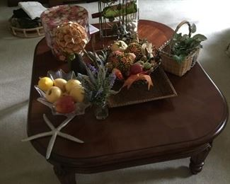 Coffee table and fun items on top