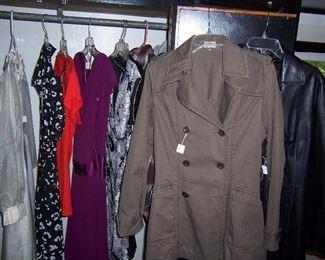 DRESSES, COATS, LEATHER COAT