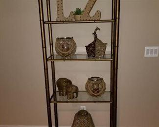 glass shelf display stand