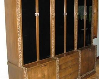 """Romweber MCM large china cabinet. 80"""" x 18"""" x 84""""  if you love Elvis this is the same brand and design that you will see in the dining room at Graceland !            BUY IT NOW $ 850.00"""