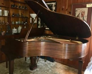 Baldwin Grand Prix Paris 1900 Baby Grand Piano, serial number 47188. Including bench. Excellent condition, keys good.