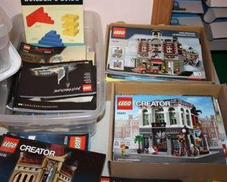 Lego magazines and instruction booklets
