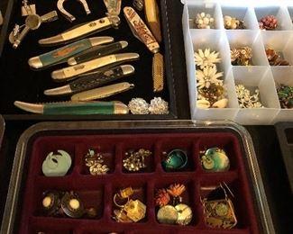 Loads of vintage costume jewelry