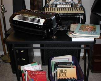 2 vintage accordians