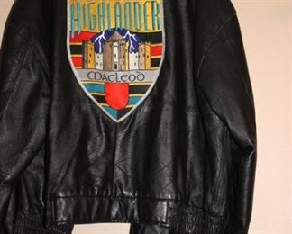 One of several leather jackets