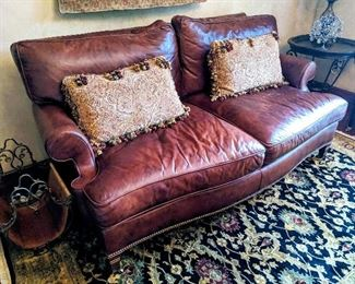 Leather sofa couch loveseat